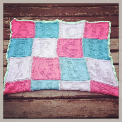 The alphabet baby blanket part one..